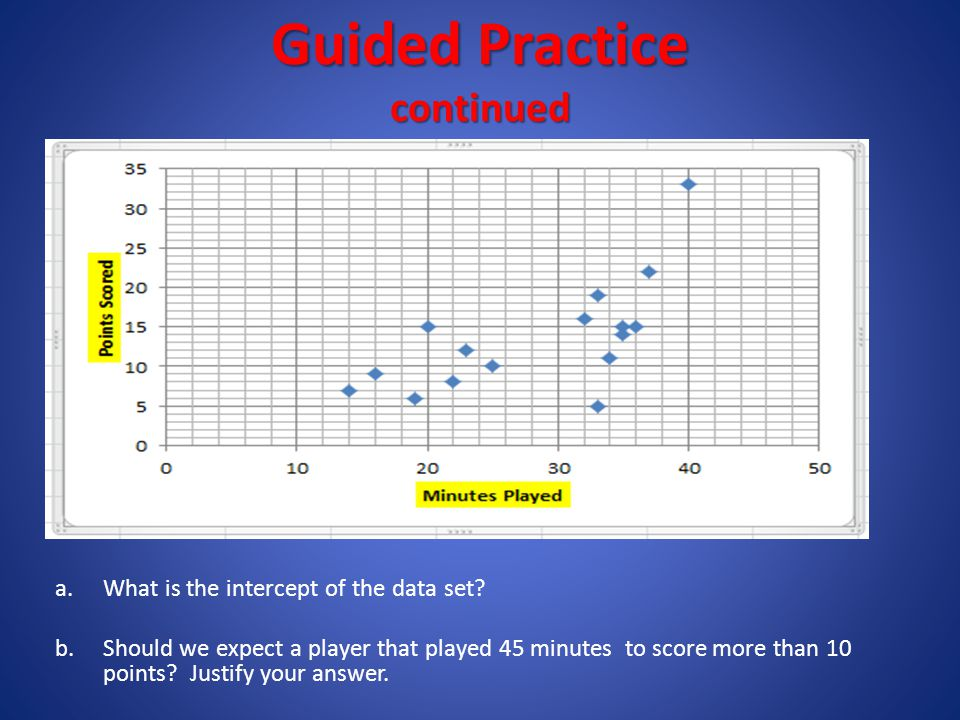 Guided Practice continued