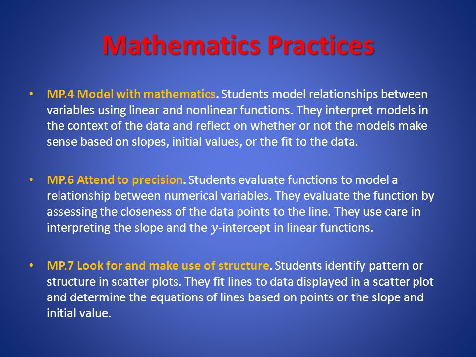 Mathematics Practices