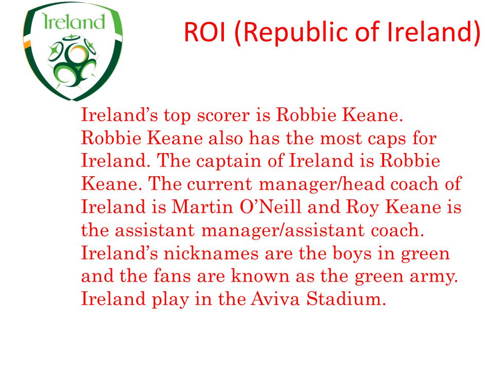 ROI (Republic of Ireland)