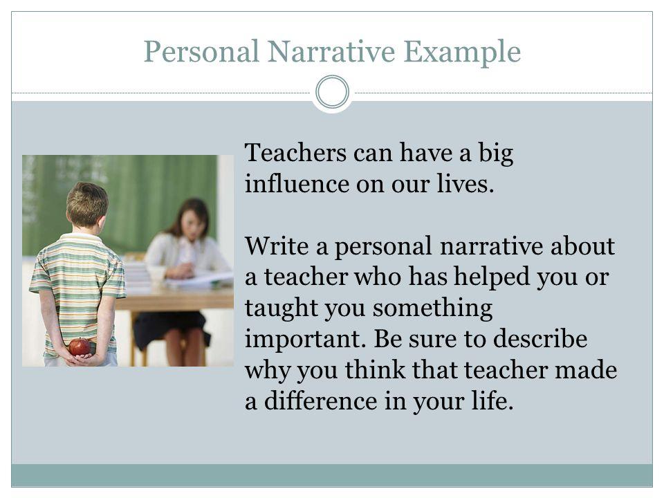 Personal Narrative Example