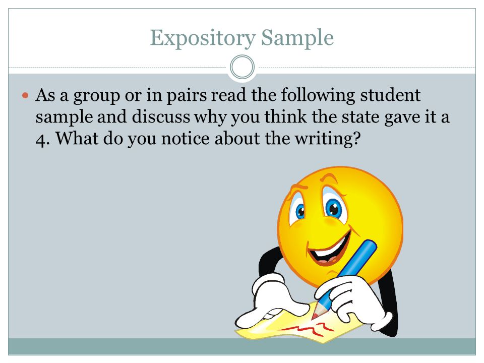 Expository Sample