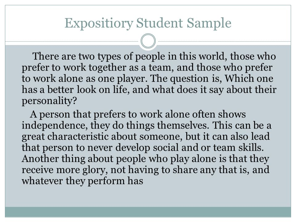 Expositiory Student Sample