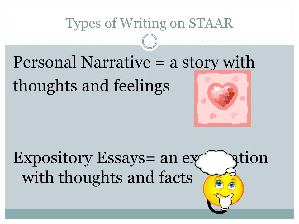 Types of Writing on STAAR