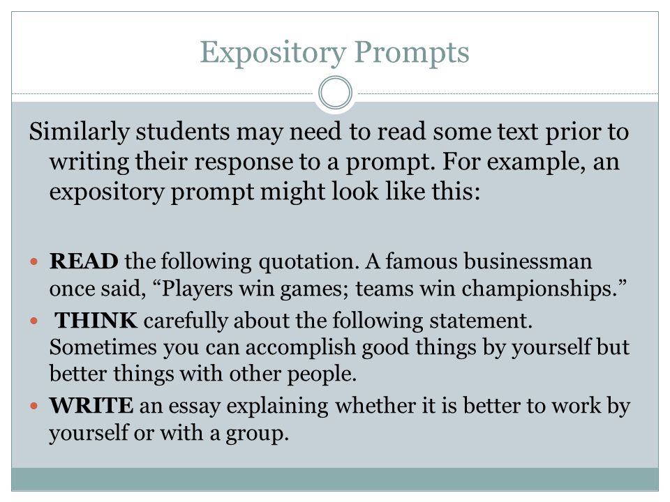 Expository Prompts