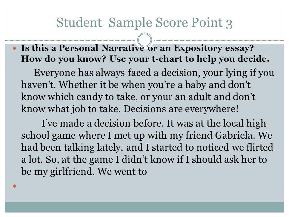 Student Sample Score Point 3