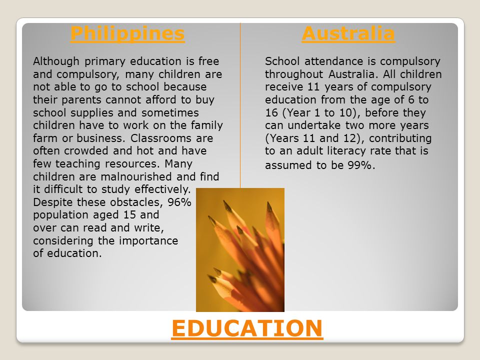 EDUCATION Philippines Australia