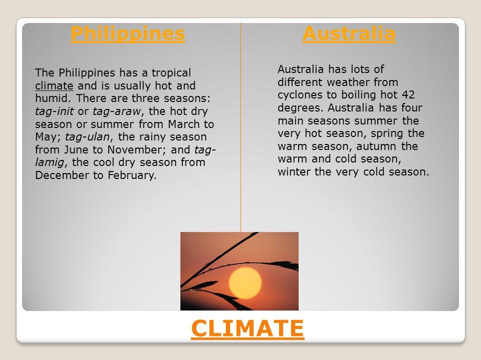 CLIMATE Philippines Australia