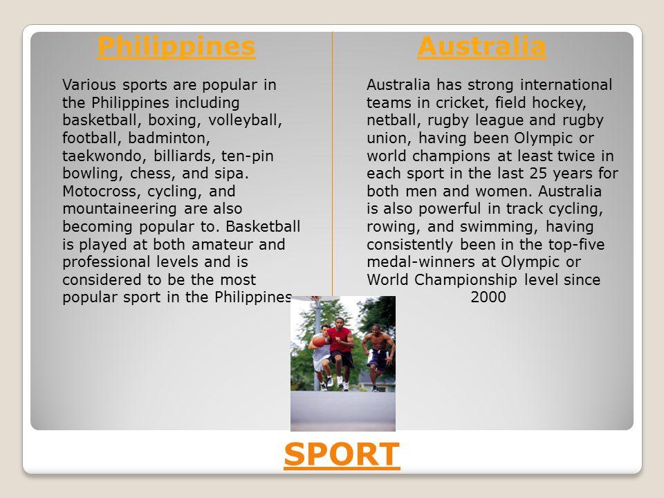 SPORT Philippines Australia