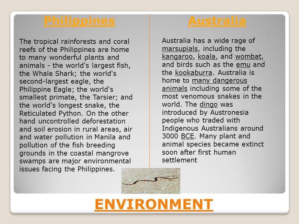 Environment Philippines Australia