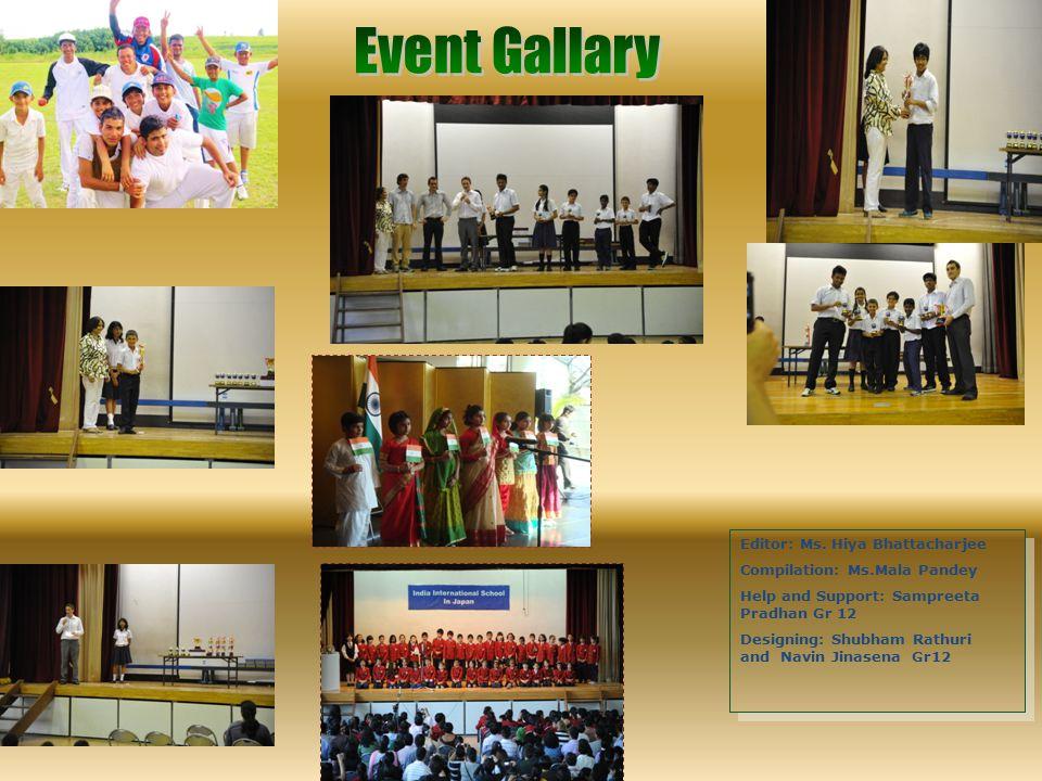 Event Gallary Editor: Ms. Hiya Bhattacharjee