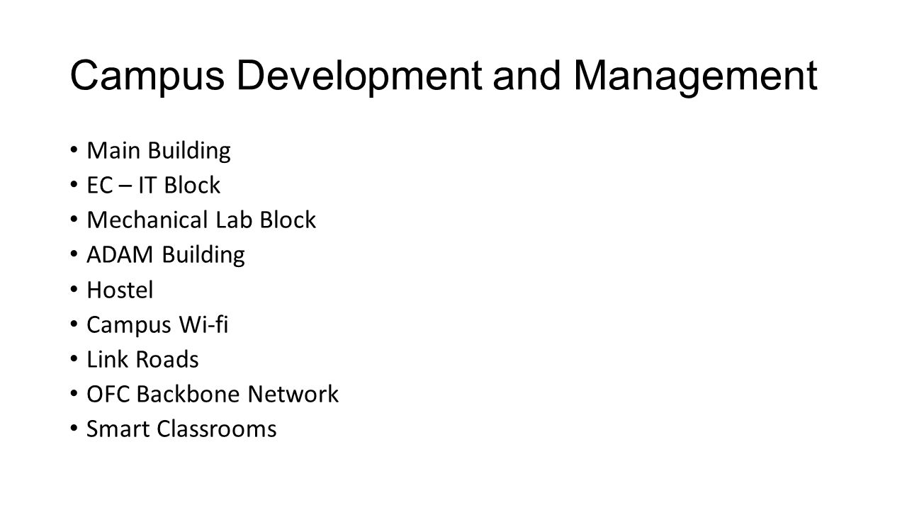 Campus Development and Management