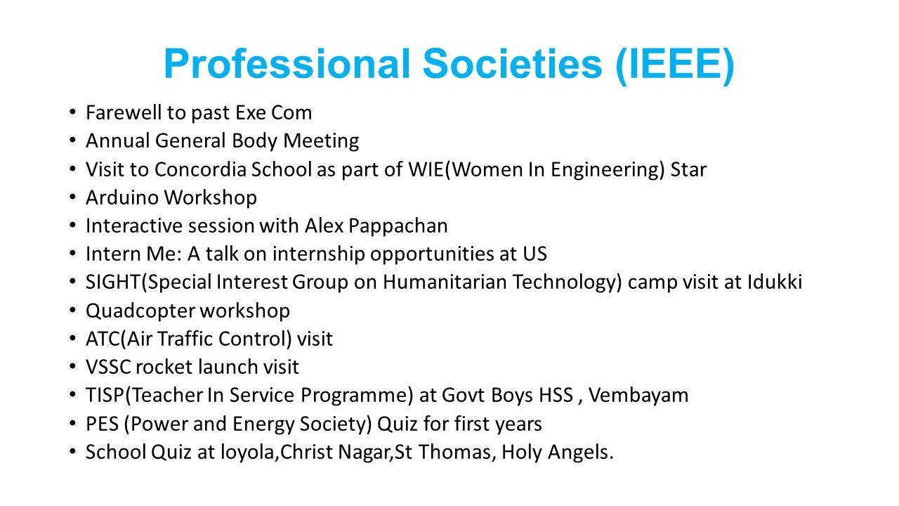 Professional Societies (IEEE)