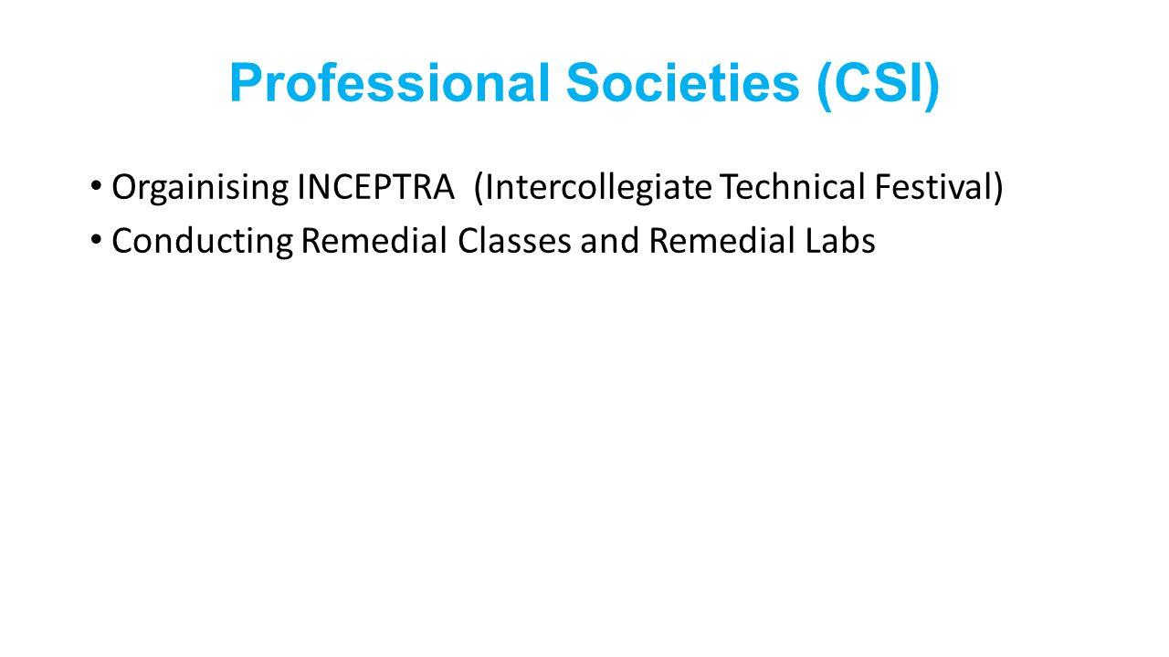Professional Societies (CSI)