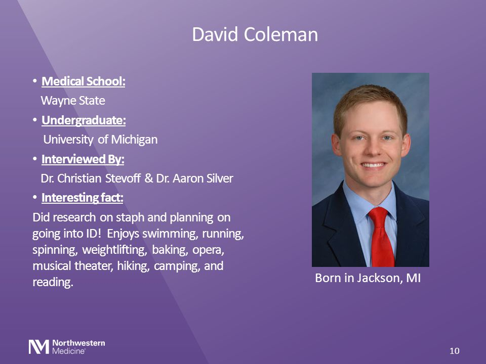 David Coleman Medical School: Wayne State Undergraduate: