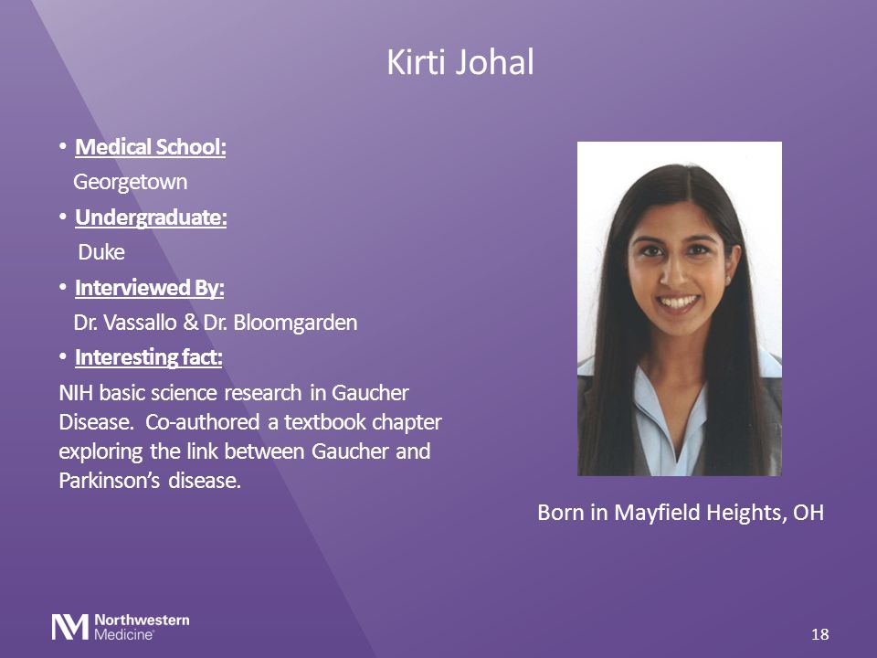 Kirti Johal Medical School: Georgetown Undergraduate: Duke
