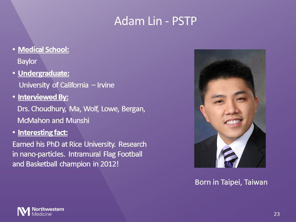 Adam Lin - PSTP Medical School: Baylor Undergraduate:
