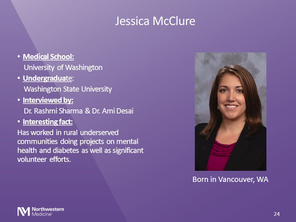 Jessica McClure Medical School: University of Washington