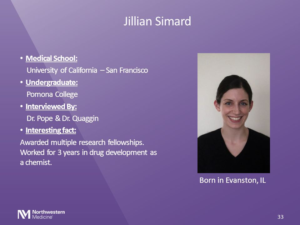 Jillian Simard Medical School: