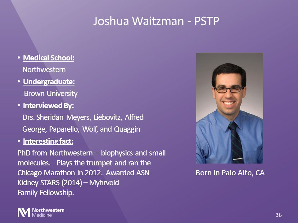 Joshua Waitzman - PSTP Medical School: Northwestern Undergraduate: