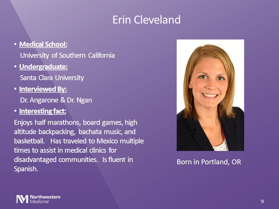 Erin Cleveland Medical School: University of Southern California