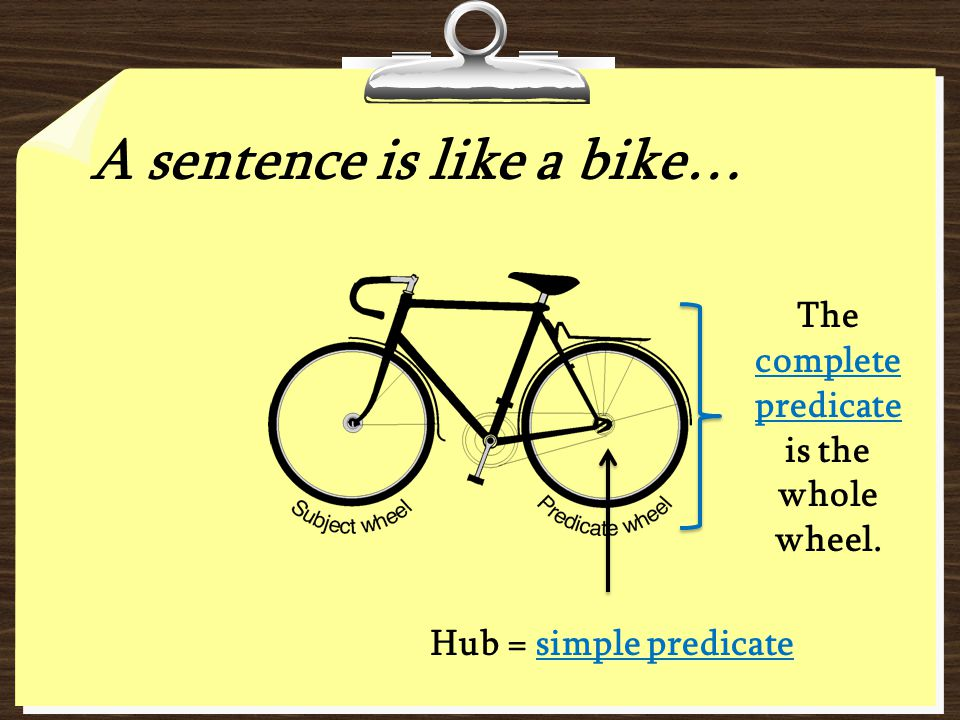 The complete predicate is the whole wheel.
