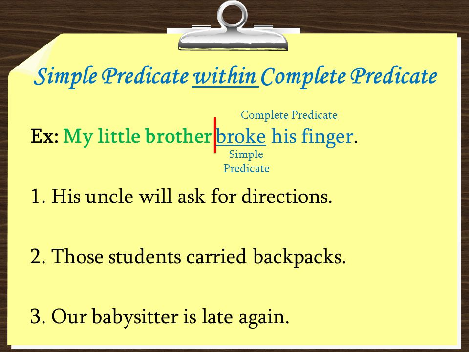 Simple Predicate within Complete Predicate