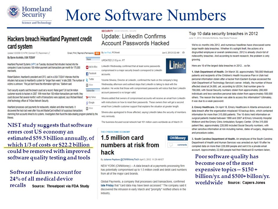 More Software Numbers