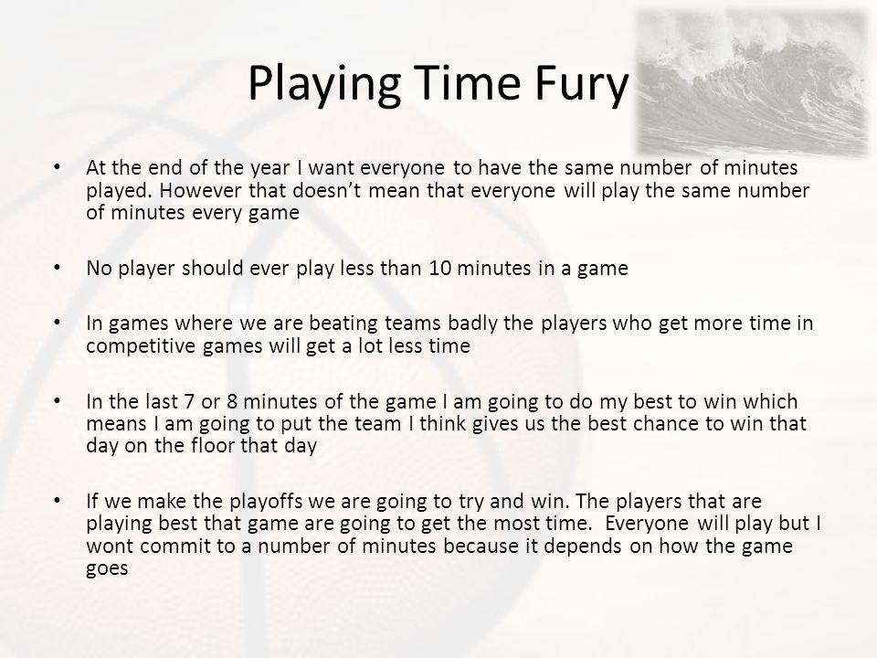 Playing Time Fury
