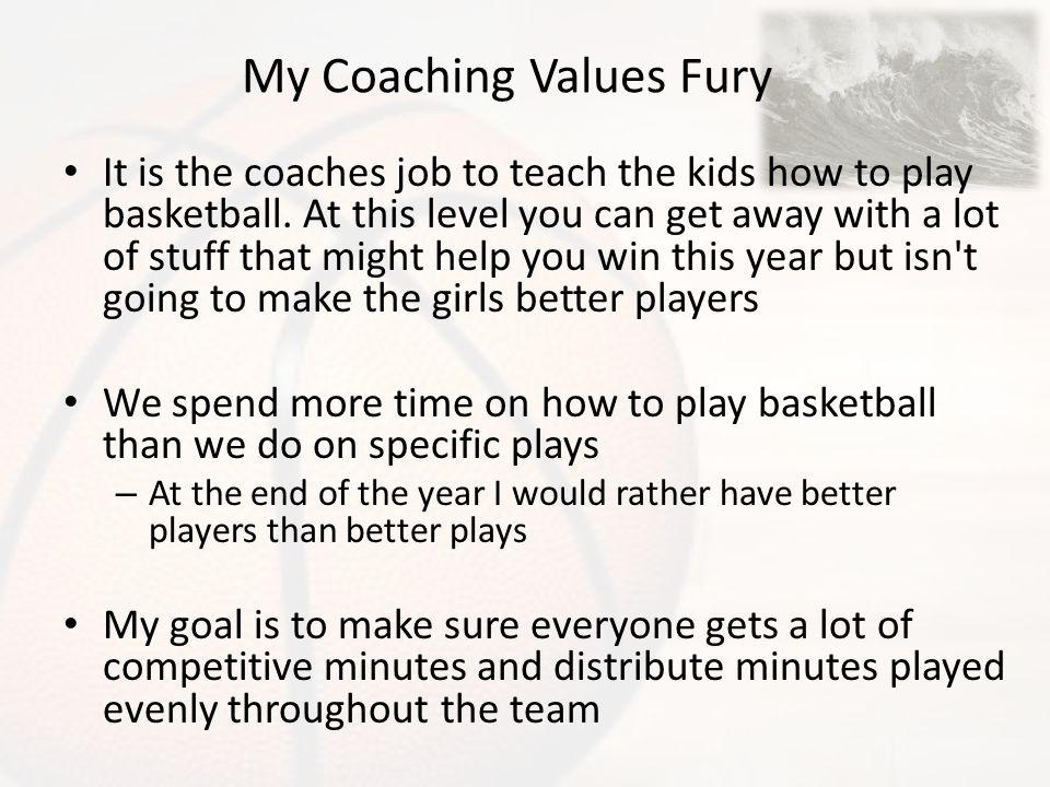 My Coaching Values Fury