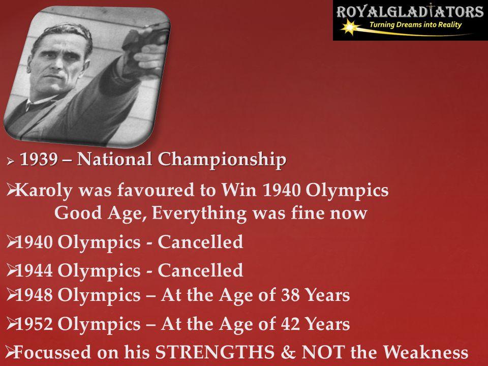 1939 – National Championship