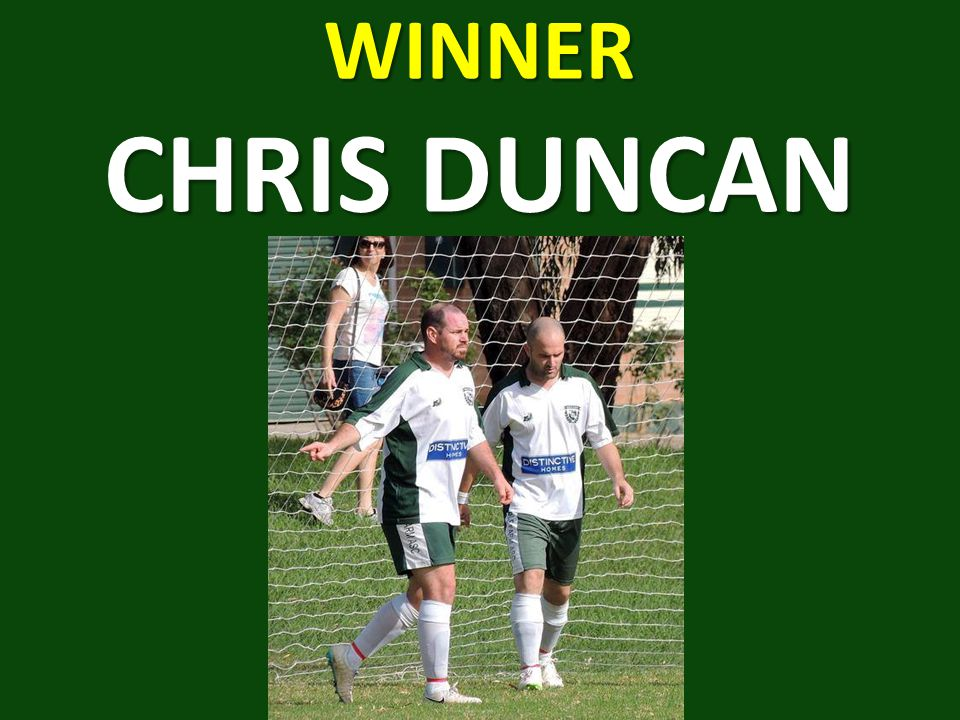 WINNER CHRIS DUNCAN