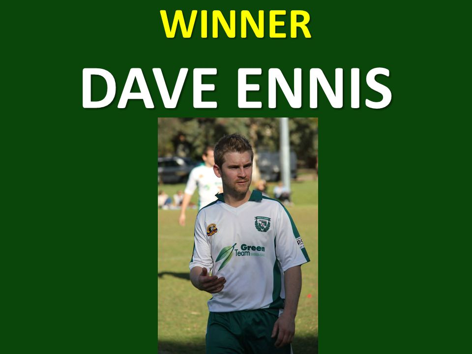 WINNER DAVE ENNIS