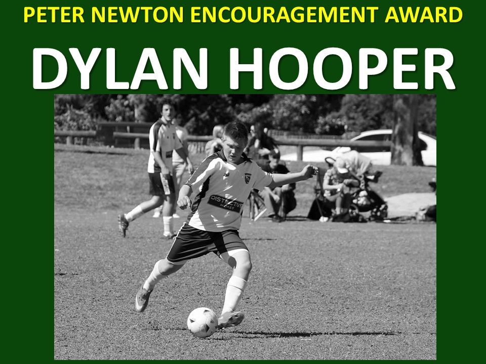 PETER NEWTON ENCOURAGEMENT AWARD DYLAN HOOPER