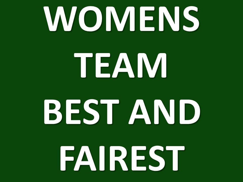 WOMENS TEAM BEST AND FAIREST