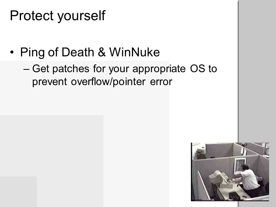 Protect yourself Ping of Death & WinNuke