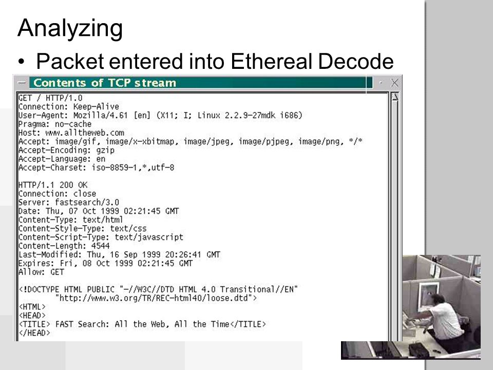Analyzing Packet entered into Ethereal Decode