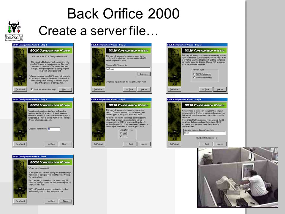 Back Orifice 2000 Create a server file…