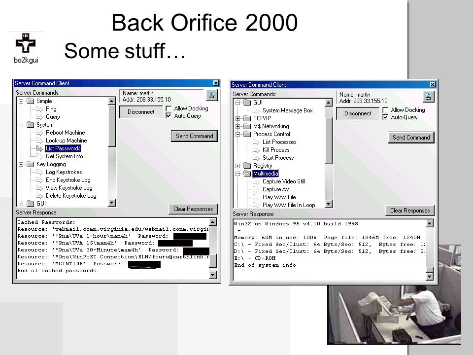 Back Orifice 2000 Some stuff…