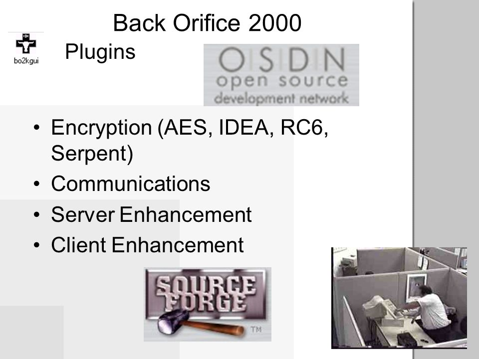 Back Orifice 2000 Plugins Encryption (AES, IDEA, RC6, Serpent)
