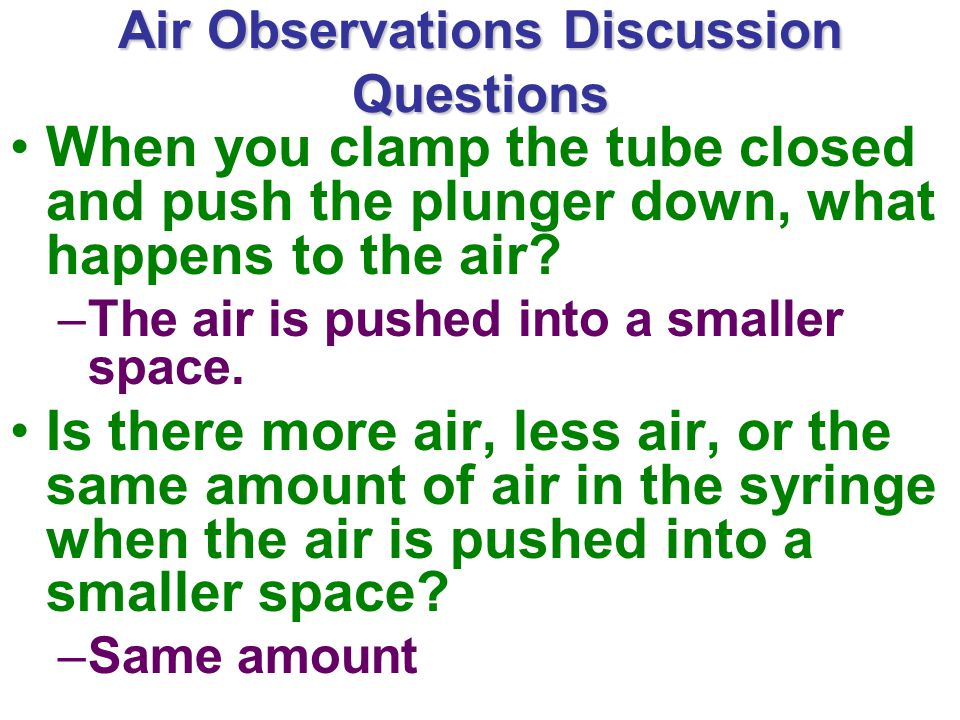 Air Observations Discussion Questions