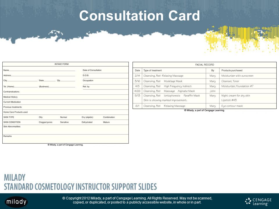 Consultation Card