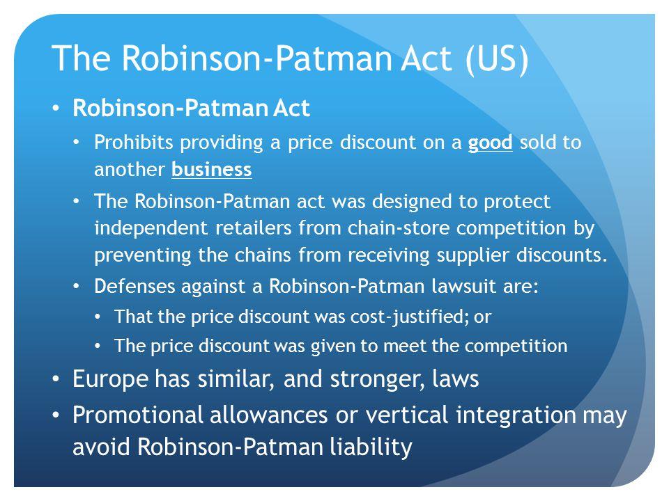The Robinson-Patman Act (US)