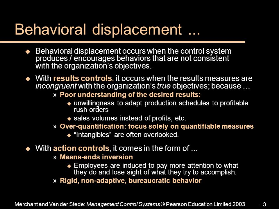 Behavioral displacement ...