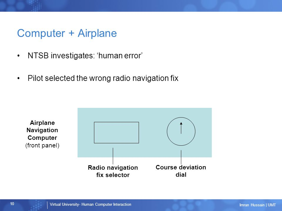 Airplane Navigation Computer Radio navigation fix selector