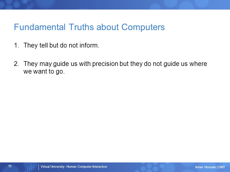 Fundamental Truths about Computers