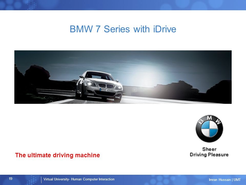 BMW 7 Series with iDrive The ultimate driving machine