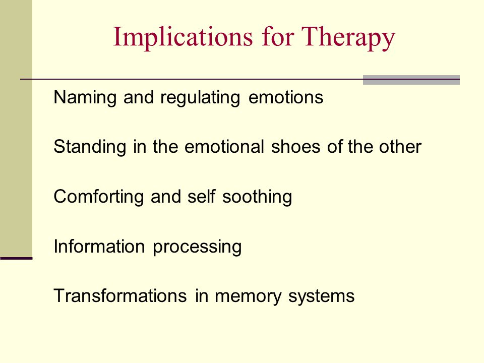 Implications for Therapy