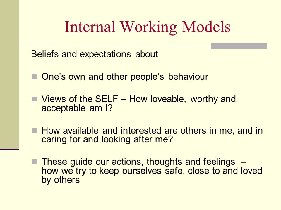 Internal Working Models