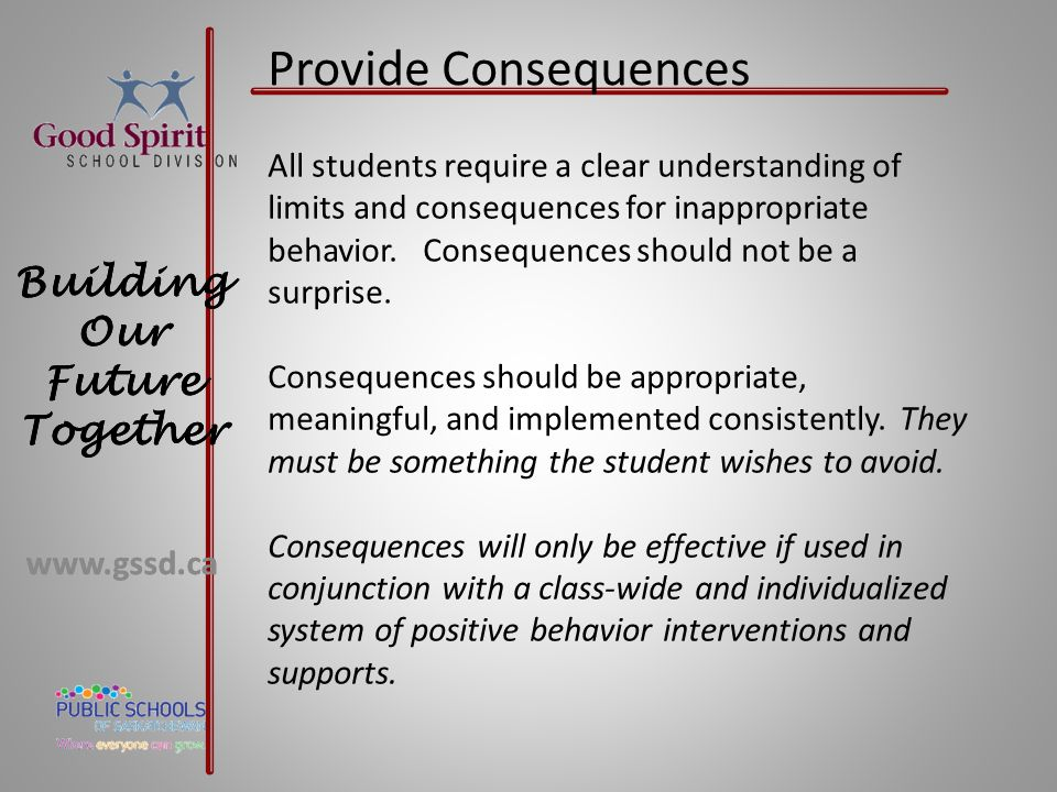 Provide Consequences