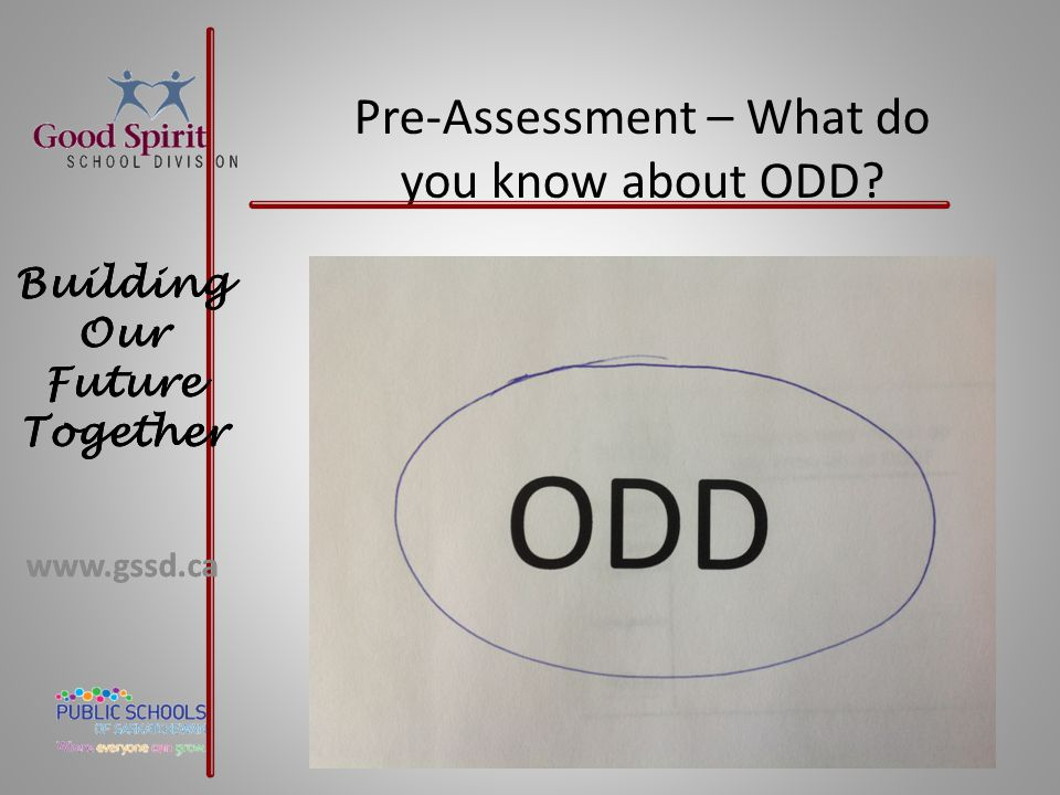 Pre-Assessment – What do you know about ODD